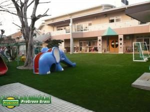 保育園園庭施工